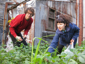 Adam and Annie foraging