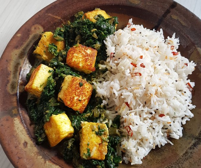plate of nettle saag paneer
