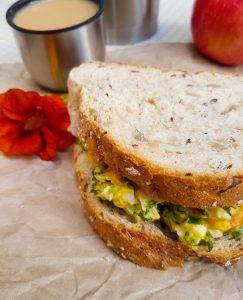 a nasturtium sandwich